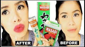 diy natural lip plumper filler using wasabi does it work beautyklove you