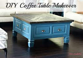 wood coffee table makeover photo 10