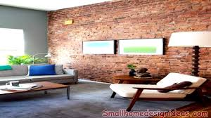 Small Picture Modern Interiors With Exposed Brick Wall Design Ideas YouTube