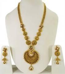 22kt antique bridal necklace set stbr24362