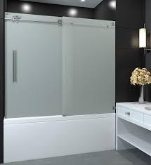 frosted shower doors. Sola BN Tub Door Frosted Shower Doors O