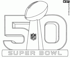 Small Picture Logo of the Super Bowl 50 coloring page printable game