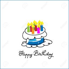 Birthday Cake Cartoon Drawing Vector Royalty Free Cliparts Vectors