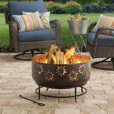 wood burning fire pit 100 iron bowl shape garden patio heater outdoor camping