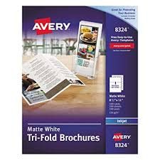 Printable Tri Fold Brochure Template Impressive Amazon Avery TriFold Brochures For Inkjet Printers 4848 X 48
