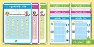 Free Sticker Charts Reward Sticker Charts For Kids Twinkl
