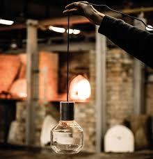 pendant lamp contemporary glass led modern barrel