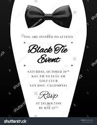 Elegant Vector Black Tie Event Invitation Stock Vector Royalty Free