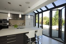 Bifold Kitchen Cabinet Doors Simple 7 Kitchen With Bifold Doors On Bi Folding Doors Bi Fold Or