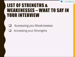 Strengths And Weaknesses What To Say In Your Interview 1 Job