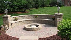 square paver patio with fire pit.  Patio Pea Gravel Fire Pit Beautiful Square Paver Patio Firepit Intended With