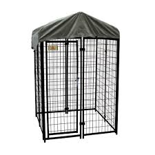 KennelMaster 4 ft. x 4 ft. x 6 ft. Welded Wire Dog Fence Kennel ...