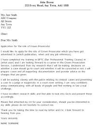 Crown Prosecutor Cover Letter Example Icover Org Uk