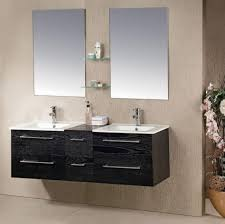 Frameless Bathroom Mirror Bathroom Rectangle Frameless Bathroom Mirrors With Small Black