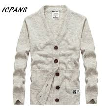 2018 <b>Autumn New</b> Brand Men <b>Cardigan Sweater</b> Loose Fit Acrylic ...