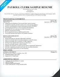 Sample Resume For Payroll Assistant Payroll Specialist Resume