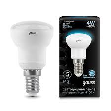LED <b>лампа Gauss 106001204 Лампа Gauss</b> LED <b>Reflector</b> R39 ...