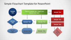 Workflow Chart Template Powerpoint Simple Flowchart Template For Powerpoint
