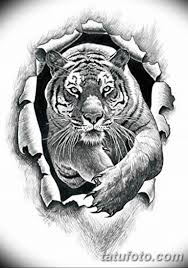 черно белый эскиз тату рисункок тигр 11032019 054 Tattoo Sketch