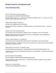 Biodata For Job Application Biodata Format For Job Application Fill Online Printable