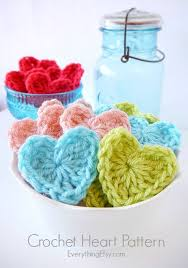 Crochet Heart Pattern Free Extraordinary Crochet Heart Pattern EverythingEtsy