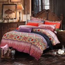 top 38 superb lelva bohemian exotic colorful ethnic style bedding sets cotton boho set duvet cover queen king size covers chic are comfy velvet full doona