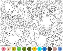 Small Picture Adult Color By Number Pages at Coloring Book Online