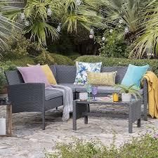 nevada grey rattan corner sofa set