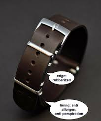 details about leather watch strap fits omega 18 20mm handmade antiperspiration lining gift man