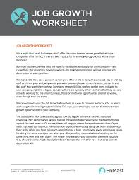 employee development plan worksheet for small businesses job growth
