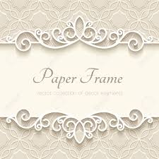 Paper Picture Frame Templates Vintage Background With Paper Border Decoration Ornamental Frame