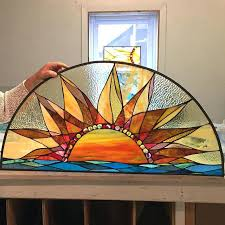 make stain glass windows consider for your custom artwork this sun stained glass was installed in make stain glass windows