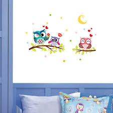 senarai harga kids room cartoon moon owl tree wall stickers 3d cute animals nursery wall decals lovely baby bedroom wall murals terbaru di malaysia