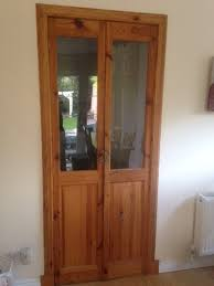wooden door with glass double internal with surround