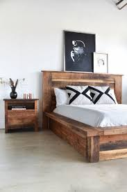 Bedroom: Snazzy Reclaimed Wood Bed Frame Your House Decor ...