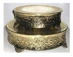 Brass Plated Cake Stand