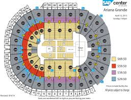 Independence Events Center Detailed Seating Chart Ariana Grande Sap Center