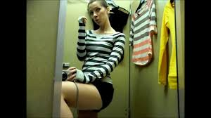 Girl in the dressing room