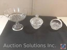 small crystal basket small crystal jar with lid glass candy dish on pedestal