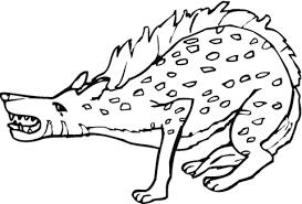 Gevlekte Hyena Gromt Kleurplaat Gratis Kleurplaten Printen