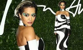 British <b>Fashion</b> Awards 2019: Rita Ora in <b>black and white</b> gown ...