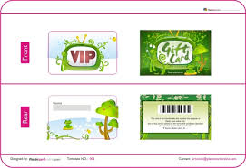 Green Card Template Free Ready Made Plastic Card Template