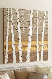 diy birch tree wall art