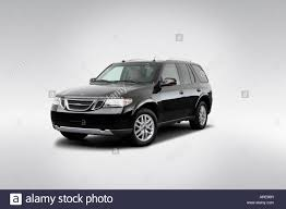 2005 Saab 9-7X Linear in Black - Front angle view Stock Photo ...