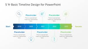 Timeline Powerpoint Slide 5 Year Basic Timeline Powerpoint Template