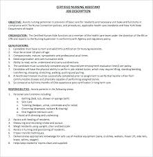 Cna Objective Resume New Cna Duties Nursing Home Resume For Template Free Teamwork Job Sample