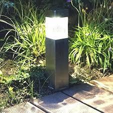 garden path lights. Garden Path Lights Pack Steel Solar Bollard Super Bright Outdoor Pathway . L