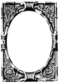 Free Vintage Image Ornate Frame Oh So Nifty Vintage Graphics