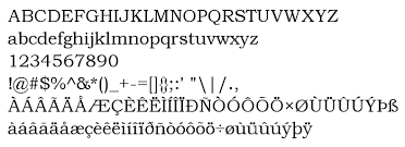 font preview bookman old style