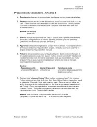 Préparation Du Vocabulaire Chapitre 6